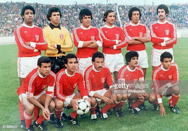 File picture dated 02 June 1978 shows Tunisian national team soccer players pose for a group picture prior to their game against Mexico at Rosario...