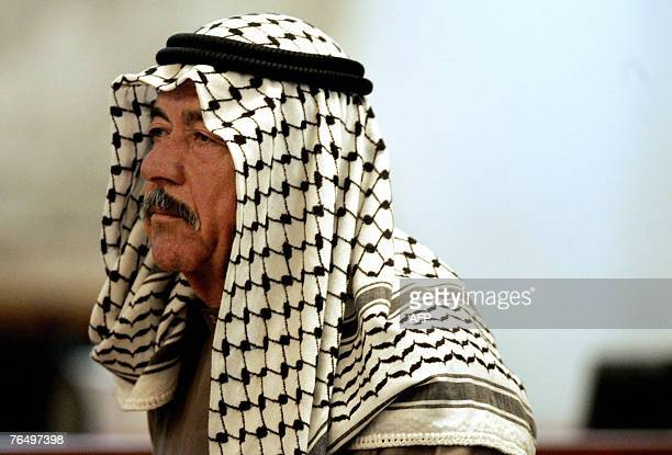 File picture dated 24 June 2007 shows Saddam Hussein's cousin Ali Hassan alMajid known as 'Chemical Ali' standing in court as he listens to the...