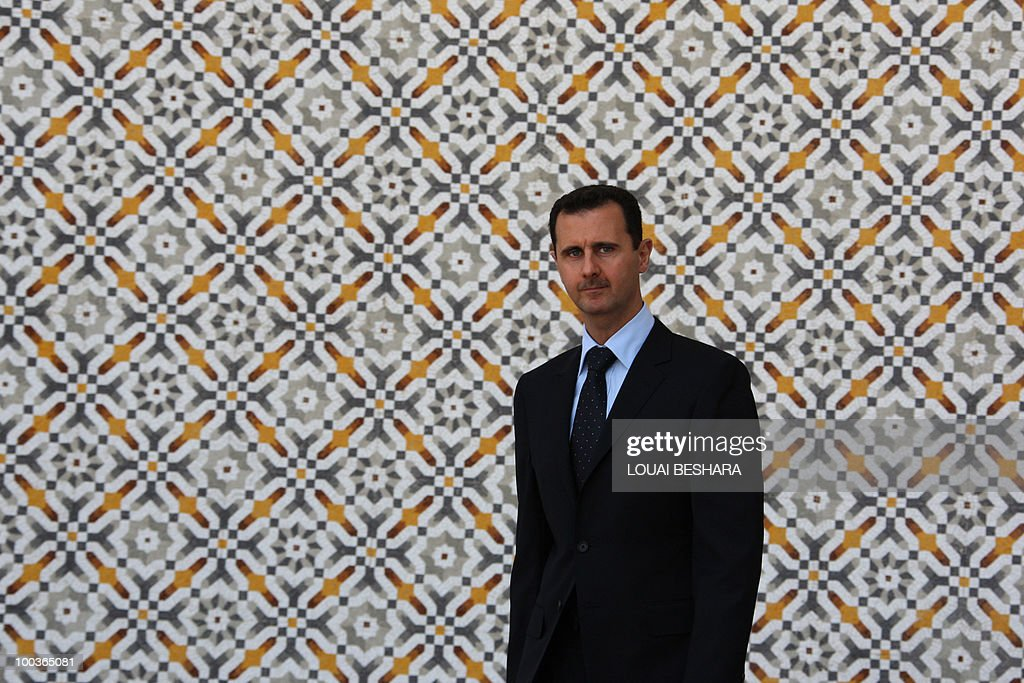 -- File picture dated June 24, 2009 shows Syrian President Bashar al-Assad at Al-Shaab Palace in Damascus. Assad said in an interview published in Rome on May 24, 2010 that the United States has lost its influence in the Middle East peace process despite the hopes raised by President Barack Obama. The Syrian president was quoted as telling the Italian daily La Repubblica that Washington 'has no influence because they don't do anything for peace. But they remain the greatest power.'