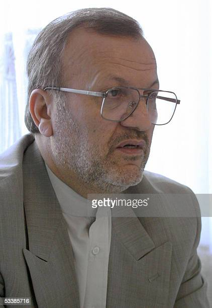 File picture dated September 2004 shows Iran's new minister of foreign affairs Manoushehr Mottaki in Tehran Iran's ultraconservative President...