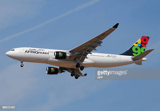 A file picture dated September 6 2009 shows an Afriqiyah Airways Airbus A330200 approaching Roissy CharlesdeGaulle airport outside Paris An...