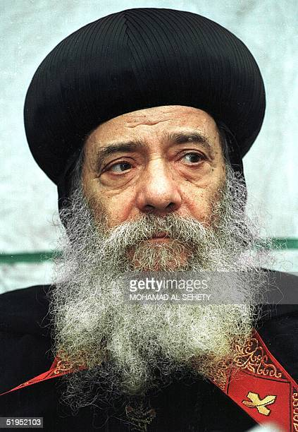 A file picture from the early 1990s shows Pope Shenuda III the current Patriarch of the Egyptbased Coptic Orthodox church The coptic pope was born in...