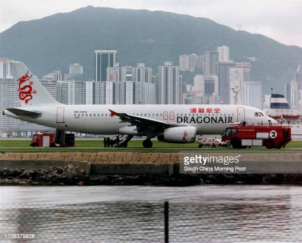 File picture of a Dragonair jet which made an emergency landing at Kai Tak on 06 June 1994 6 jun 94