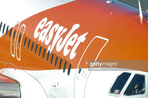 A file picture of an EasyJet plane taking part in the rescue flight operation seen at the John Paul II KrakowBalice International Airport on March 15...