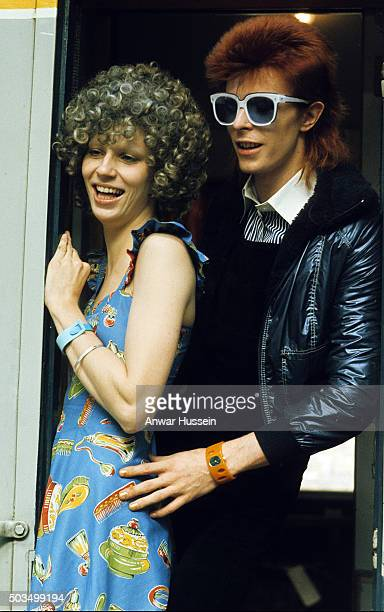File picture of singer David Bowie with his wife Angie Bowie on January 01 1974 in London England Angie Bowie who divorced David Bowie in1980 entered...