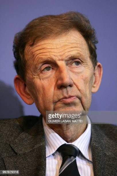 File picture taken 13 December 2006 at the Interior Ministry in Paris of French television station TF1 vice president Etienne Mougeotte Etienne...