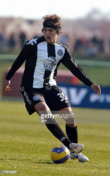 OUT*** A file picture taken 14 March 2007 shows Partizan Belgrade's Stevan Jovetic during a football match against Madosti Apatin in Apatin...
