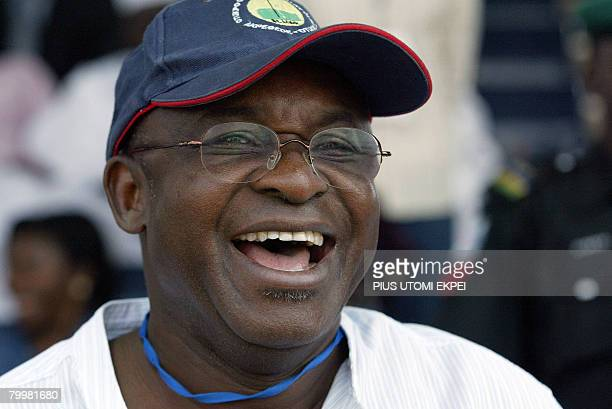 File picture taken December 16 2006 shows Nigeria's Senate President David Mark smiling at the convention of the ruling Peoples Democatic Party in...
