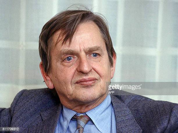 File picture taken in 1984 shows Sweden's Prime Minister Olof Palme Sweden's Prime Minister Olof Palme was assassinated on a street in Stockholm...