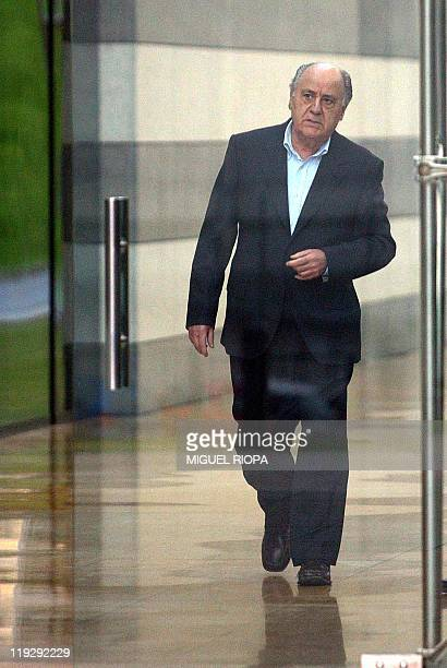 A file picture taken on February 4 2004 shows the founder of Spain's Inditex the world's largest fashion retailer and owner of the Zara brand Amancio...