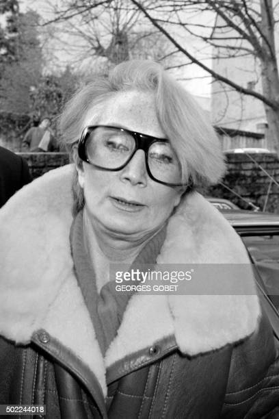 A file picture taken on January 20 1986 shows Fernande Grudet also known as Madame Claude looking on during her trial at the Court of Cahors Mme...