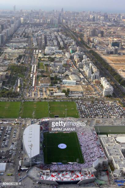 File picture taken on January 23 2007 shows a partial view of the Gulf emirate of Abu Dhabi capital of the United Arab Emirates with its AlJazeera...