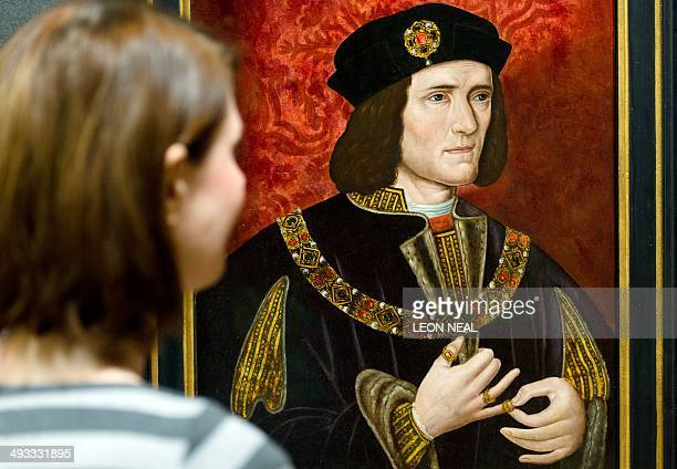 A file picture taken on January 25 2013 shows a painting of medieval English king Richard III by an unknown artist displayed in the National Portrait...