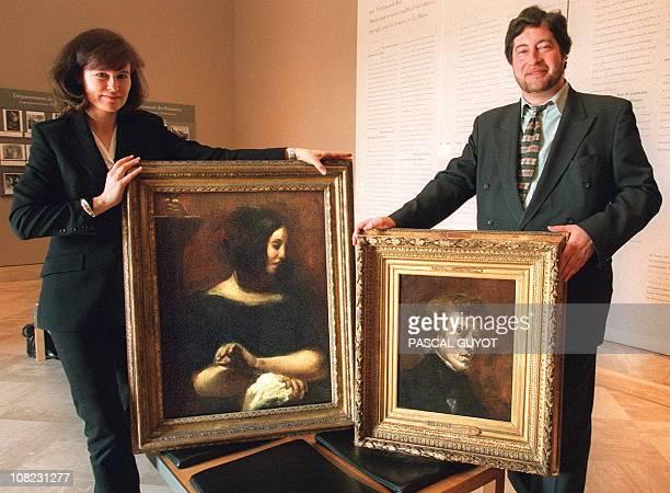 STORY A file picture taken on March 3 1998 shows AnneBrigitte Fonsmark director of the Ordrupgaard Musuem in Copenhaguen and Vincent Pomorède curator...