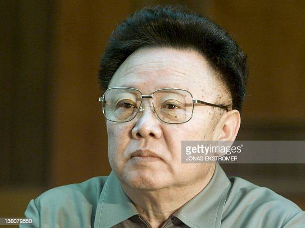 A file picture taken on March 3 2001 shows North Korean Leader Kim Jong Ilduring a meeting with Swedens Prime Minister JongIl has died aged 69 of a...