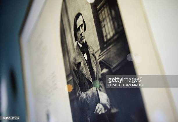 A file picture taken on March 4 2010 at the Cite de la musique shows an anonymous daguerreotype piano representing Polish musician Frederic Chopin...