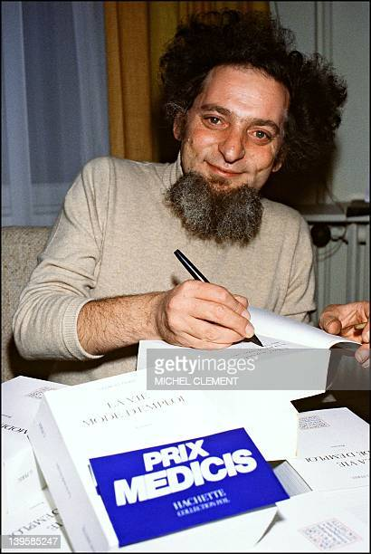 A file picture taken on November 27 1978 shows French writer Georges Perec in Paris Perec's first novel 'Le Condottiere' written between 1957 and...
