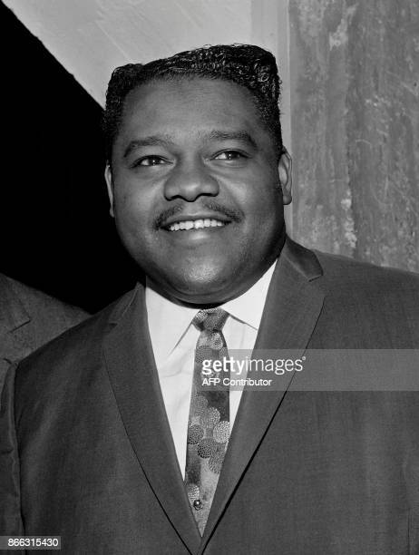 A file picture taken on October 20 1962 shows US pianist and singersongwriter Fats Domino posing on the occasion of a performance at the Palais des...