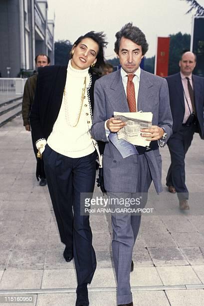 File pictures Ines de la Fressange in France in 1984 - With friend Luigi d'Urso, Grand Prix de l'Arc de Triomphe.
