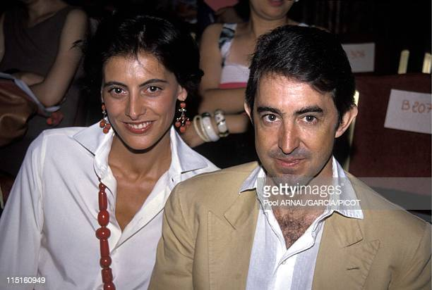 File pictures Ines de la Fressange in France in 1984 With husband Luigi d'Urso Lacroix collection 1990