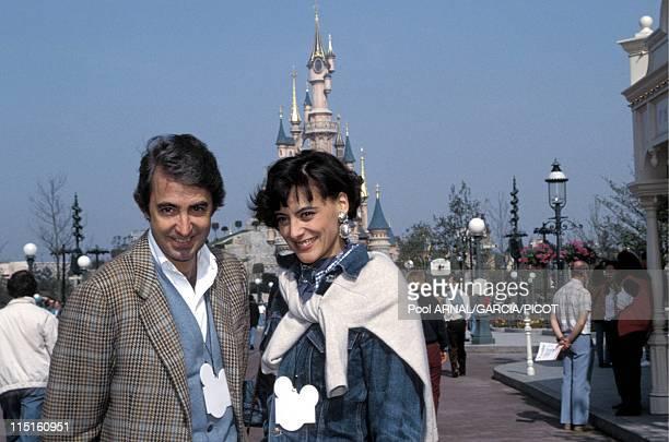 File pictures Ines de la Fressange in France in 1984 With husband Luigi d'Urso Eurosdisney in 1992