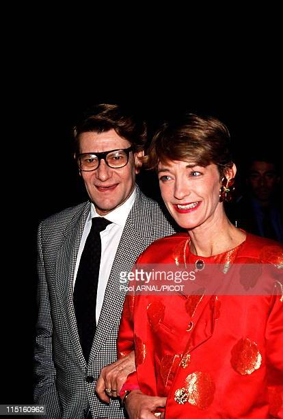 File pictures of Yves Saint Laurent in France in 1989 Yves Saint Laurent and Loulou de la Falaise 1991