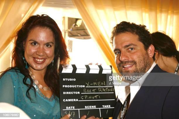 Fileena Bahris and Brett Ratner during 2006 Cannes Film Festival - Nikki Beach Gift Lounge in Cannes, France.