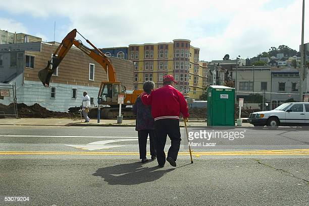 Filemon Mordeno and his wife Mercedes Mordeno head home after a routine medical checkup April 11 2005 in San Francisco Both are covered by Medicare...