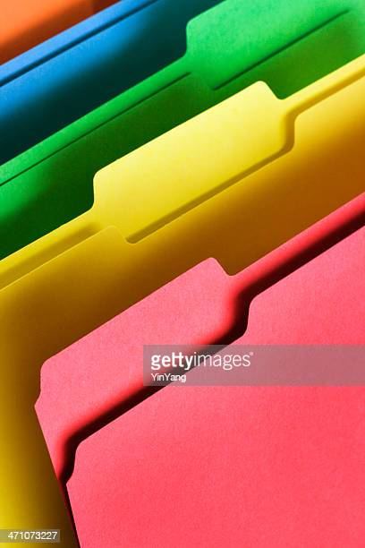 Files, Document Paper Work Organization Office Supply in Rainbow Colors