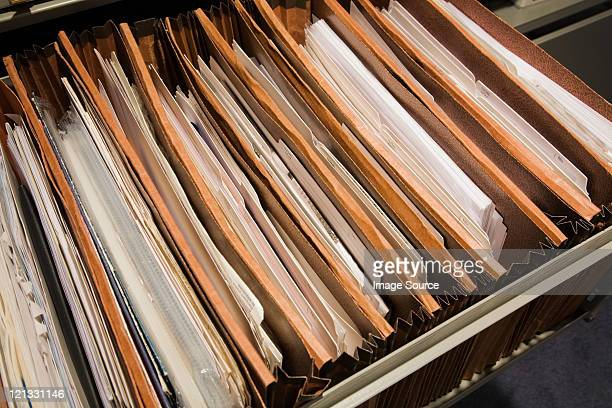 Files in a drawer