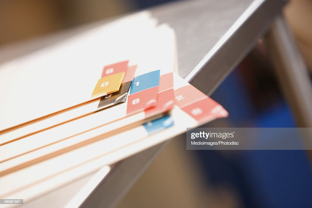 Files in medical record room : Stock Photo