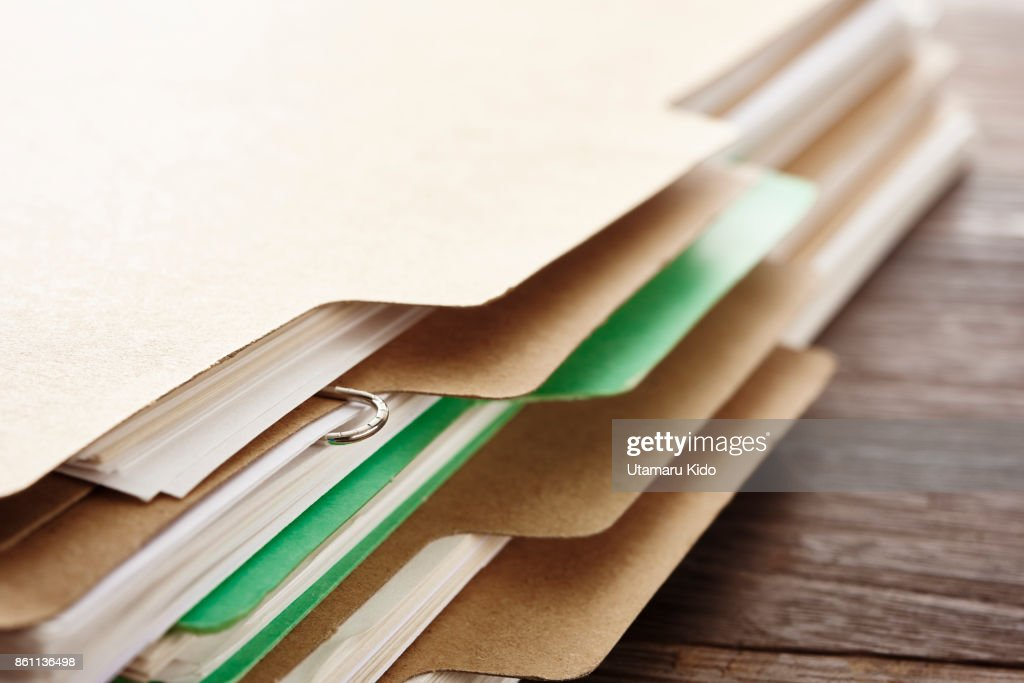 Files. : Stock Photo