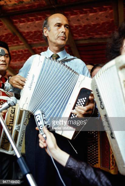 Files Picture Of Valery Giscard D Estaing Playing Accordion, Seventies.