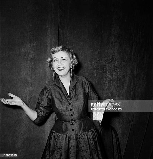 Files Pictures of French Actress Suzy Delair In France In 1950