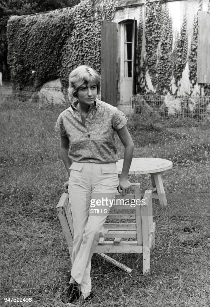 FRANCE Files pictures of French author Francoise Sagan in the sixties