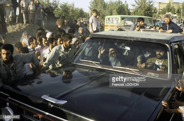 Files pictures of Iranian supreme leader Ayatollah Ruhollah Khomeini in January 24 1984 in Iran