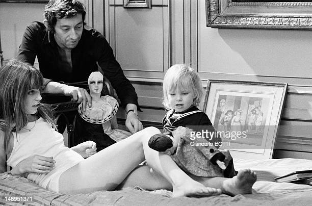 Files pictures of Jane Birkin and Serge Gainsbourg with their daughter Kate in the late sixties