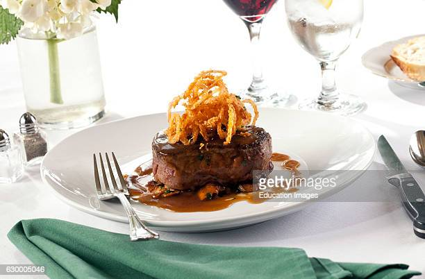filet Mignon with frizzled onions Club Continental Orange Park FL