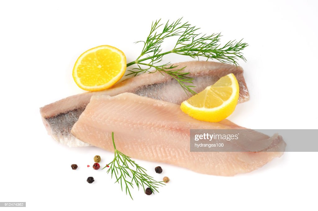 filets of herring isolated : Stock Photo