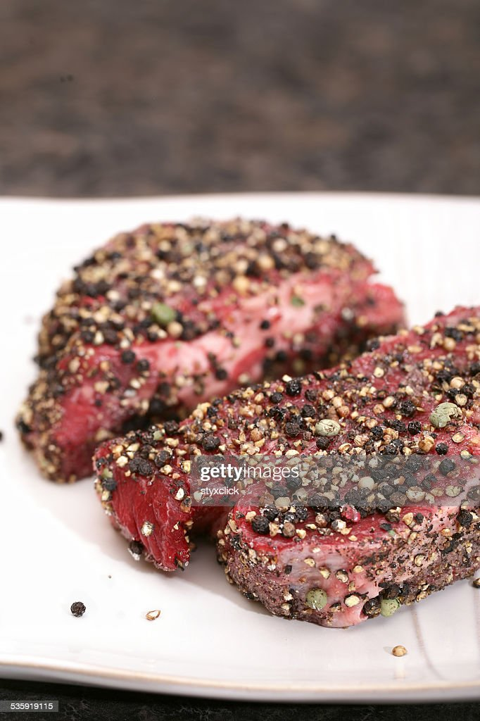 Filets prepared with spice dry rub : Stock Photo