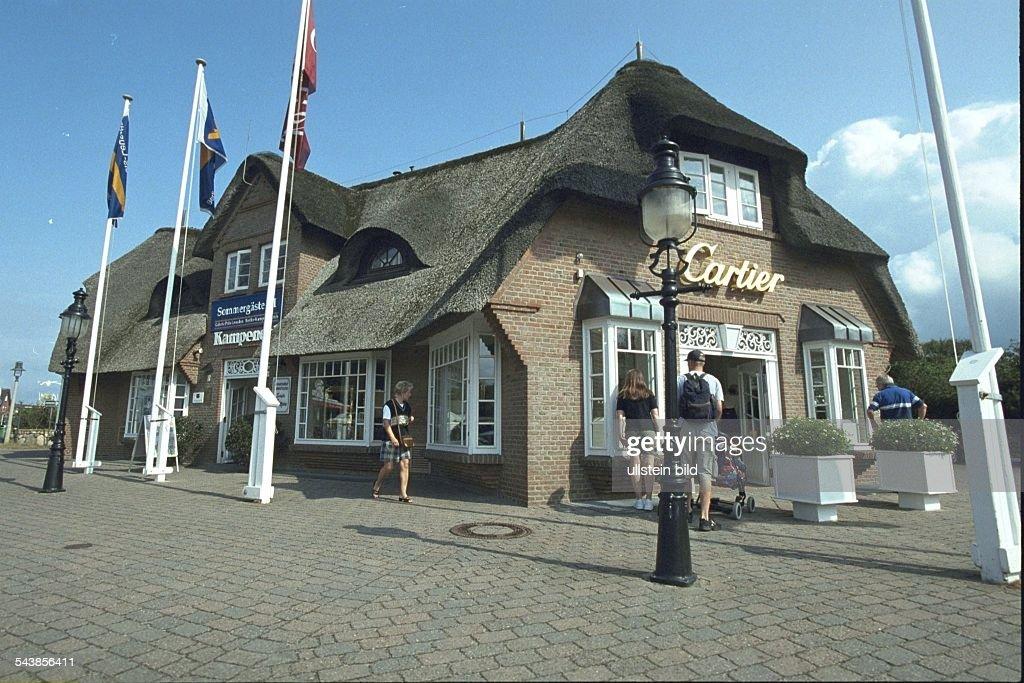 Filiale Des Juweliergeschäfts Cartier Im Haus Kampen Eck An Der Hauptstraße  In Kampen Auf Sylt