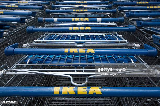 Filiale of the Swedish furniture house IKEA in Cologne The photo shows IKEAlogos on shopping carts