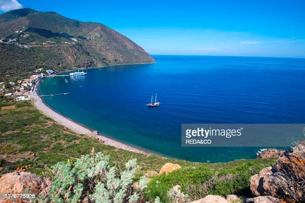 Filicudi harbor Capo Graziano Filicudi island Aeolian Islands Eolie Sicily Italy Europe
