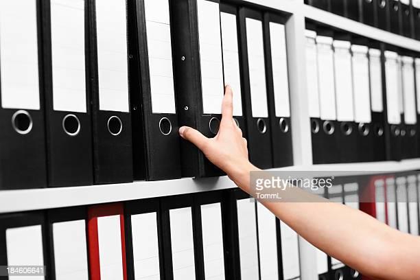 Meuble de dossiers d'archives