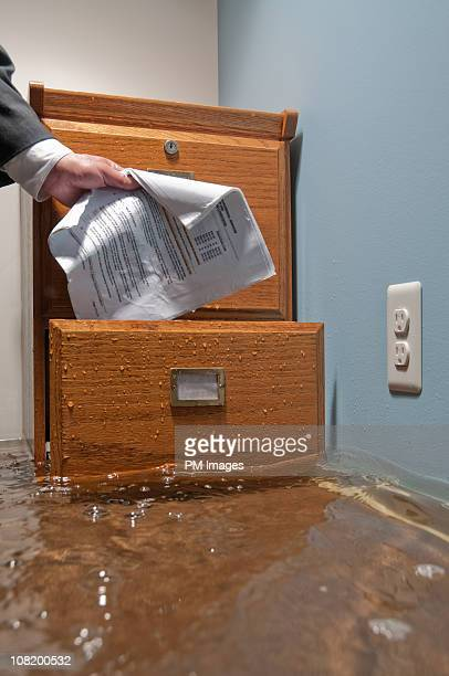 Filing In Flooded Office