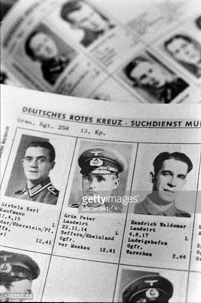 Filing of the German Red Cross tracing service in Munich images of missing soldiers of World War II