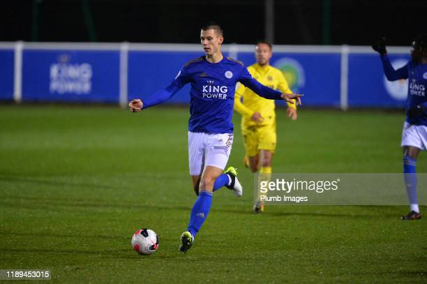 Filip Benkovic of Leicester City during the Leicester City U23 v Villarreal B PL International Cup at Holmes Park on December 18th 2019 in Leicester...