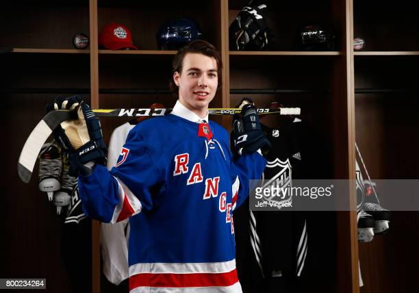 Filip Chytil 21st overall pick of the New York Rangers poses for a portrait during Round One of the 2017 NHL Draft at United Center on June 23 2017...