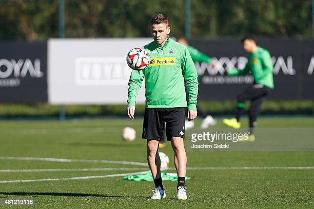 Filip Daems attends a training session at day two of Borussia Moenchengladbach training camp on January 9 2015 in Belek Turkey