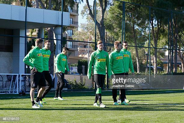 Filip Daems Roel Brouwers Granit Xhaka Thorben Marx Martin Stranzl attends a training session at day two of Borussia Moenchengladbach training camp...